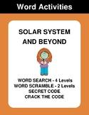 Solar System & Beyond - Word Search, Scramble,  Secret Cod