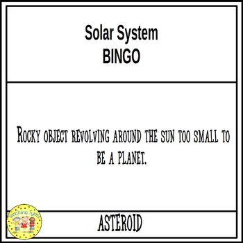 Solar System Bingo