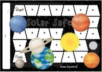 Solar System Blank Board Game (EDITABLE)