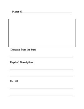 Solar System Book Template