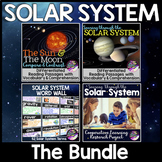 Solar System Unit Bundle: Planet Research Project, Word Wall & Reading Passages