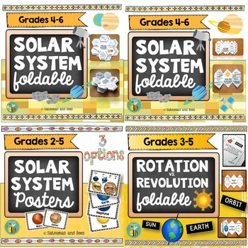 Solar System Bundle-Interactive Science notebook pages and posters