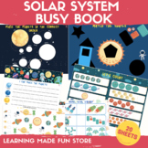 Solar System Busy Book Preschool Learning Binder Printable