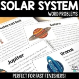 Solar System By The Numbers: Word Problems for Fast Finishers Distance Learning