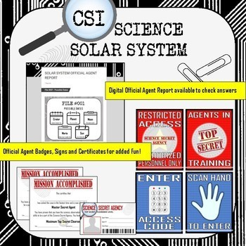 Solar System CSI Science- Distance Learning