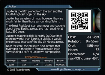 Solar System Cards - professionally printed