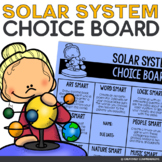 Solar System Choice Board Activities