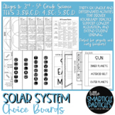 Solar System Choice Boards - Distance Learning