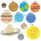 Solar System Clip Art - With and Without Labels