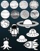 Solar System Clip Art (Alien, Astronaut, Planets, Space)