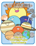 Solar System Clip Art, Coloring, and Worksheets