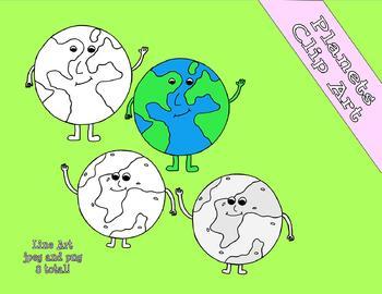 Solar System Clip Art Freebie