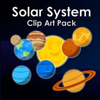 Solar System Clip Art Pack! - Mercury, Venus, Earth, Mars, Jupiter, Saturn...