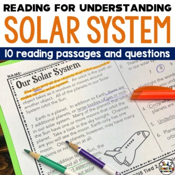 Solar System Reading Passages: Space Science Close Reading