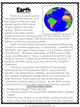 Solar System Close Reading and Poster Bundle