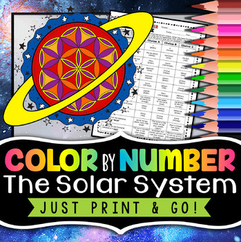 Solar System Color by Number - Science Color By Number