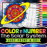 Solar System Color by Number - Science Color By Number | Distance Learning