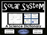 Solar System  Color, Cut, and Glue Dictionary