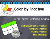 Solar System Color by Fraction - A Common Core Fraction Activity