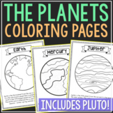 Solar System Coloring Page Crafts and Posters, Anchor Chart, Informational Text