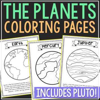Solar System Coloring Pages Worksheets Teaching Resources Tpt