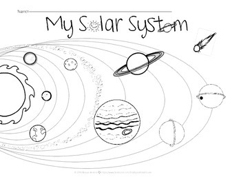 Solar System Coloring Sheet by Tiny Space Adventures | TpT