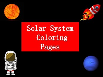 Solar System Coloring pages FREE PRINTABLE!