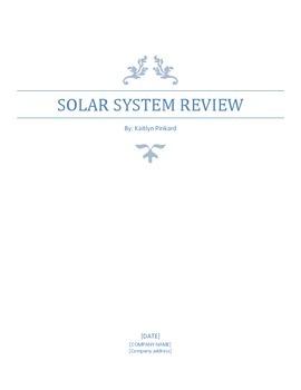 Solar System Comprehensive Review