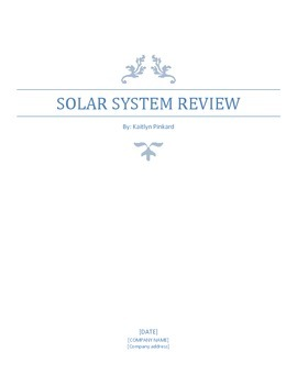 Solar System Comprehensive Review