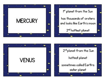 Solar System Concentration Matching Game