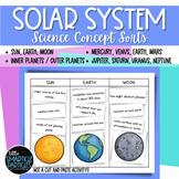 Solar System: Concept Sorts