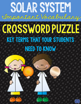 Solar System Crossword Comprehension Puzzle