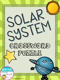 Solar System Crossword Puzzle Activity