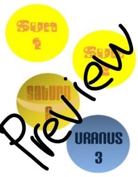 Solar System Desk Labels