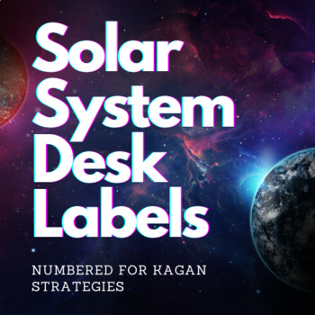 Solar System Desk Labels