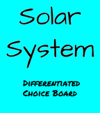 Solar System Differentiated Choice Board