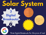 Solar System Digital Breakout Bundle: (Planets, Sun, Moon)