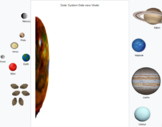 Solar System Digital Models TEKS 3.8 C and D