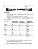 Solar System Distance Model and Graph
