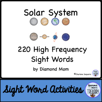 Solar System Dolch Sight Words