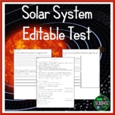 Solar System Editable Test