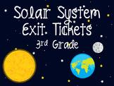 Solar System Exit Tickets 3rd Grade