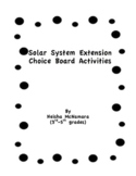 Solar System Extension Choice Board
