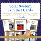 Solar System Fun Fact Cards for Games, Bulletin Board, Unit Activity
