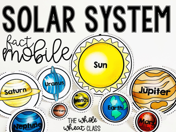 Solar System Fact Mobile for Space Unit