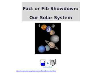 Fact or Fib Showdown: Solar System