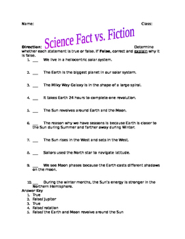 Solar System Fact vs. Fiction