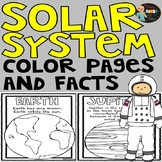 Solar System Facts and Coloring Pages