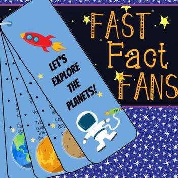 Solar System Fast Fact Fans Interactive Notebook Foldable Activity