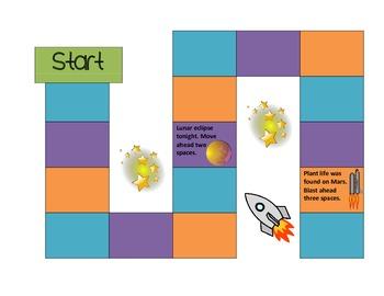 Solar System File Folder Game